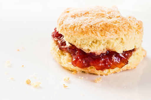 Scone with jam. Photo by Benson Kua, and it's from Canada, not the U.K.
