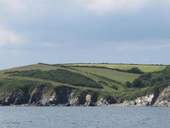 Irrelevant photo. The coast near Fowey, Cornwall.