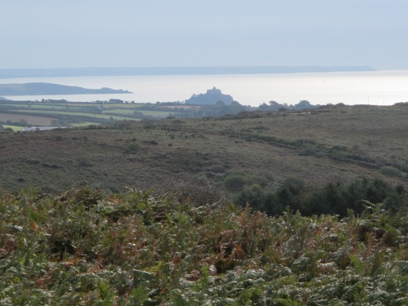 Irrelevant Photo: A view of the south coast and St. Michael's Mount