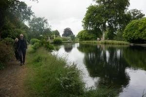 Walking by the lake.