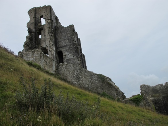Irrelevant photo: Corfe Castle, in Dorset.