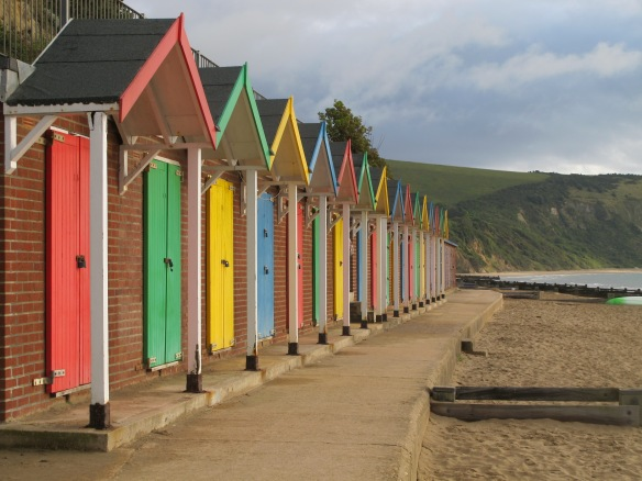 Irrelevant photo: beach huts at Swannage