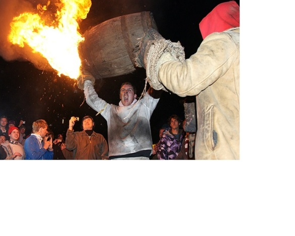 Holy flaming tar barrels, they really do this. Sorry about the white space. The photo's from the official web site and I can't seem to crop the damned thing.