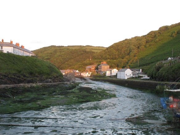 Borderline relevant photo: Boscastle in the evening--and more to the point summer--light.