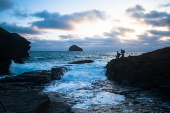 Irrelevant photo: Evening at Trebarwith Strand. Photo by Ida Swearingen.