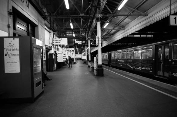 A rare relevant photo: A London tube station. Photo by Ida Swearingen