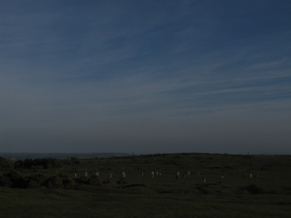Irrelevant photo: a stone circle at Minions.