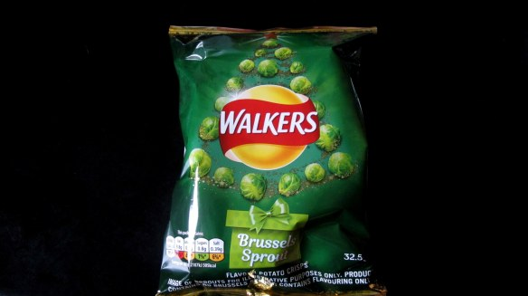 brussels sprout-flavored crisps